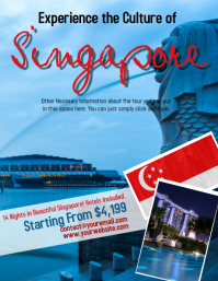 Singapore Tour Travel Flyer Template