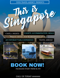 Singapore Tour Travel Package Flyer Template