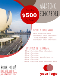 Singapore Travel Flyer Template