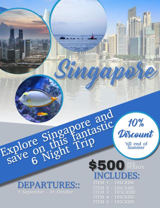 Singapore Travel Flyer Template