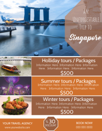 Singapore Travel Poster Flyer Template