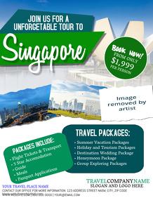Singapore Travel Tour Flyer Template