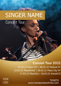 Singer Band Concert Tour Musical Plays Advert A4 template