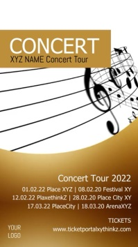 Singer Band Concert Tour Musical Plays Advert เรื่องราวบน Instagram template