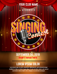 Singing Contest flyer template