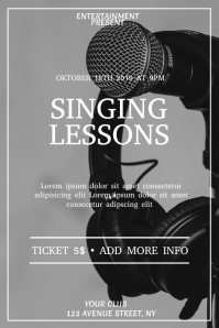 Singing esson event flyer template Poster
