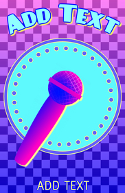 singing karaoke - microphone in pink and blue