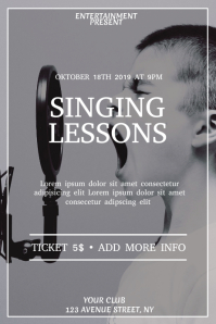 Singing lessons event flyer template