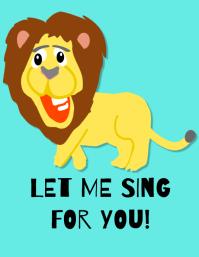 Singing poster