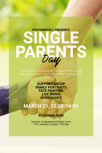 Single Parents Day Flyer Template Poster