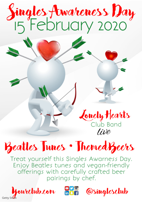 Singles Awareness Day Flyer