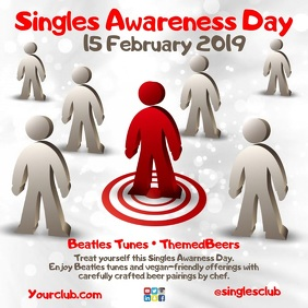 Singles Awareness Day Instagram Square (1:1) template