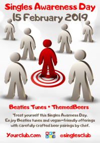 Singles Awareness Day Poster