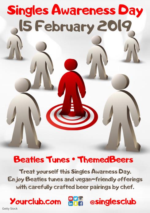 Singles Awareness Day Poster