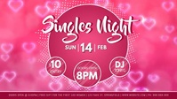 Singles Night Facebook Video Event Cover Facebook-covervideo (16:9) template