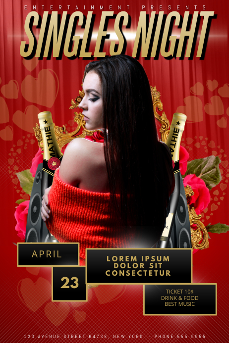 Singles Night Party Flyer Template