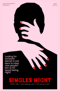 Singles Night Speed Dating Flyer Template Iphosta