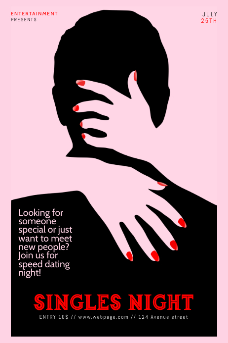 Speed dating poster template