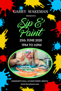 Sip & Paint Poster Template
