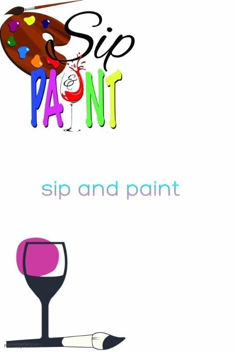 sip and paint template postermywall