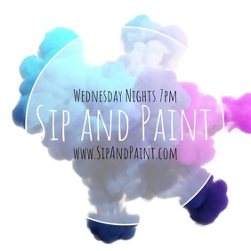 sip and paint event advert instagram