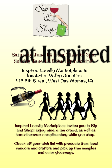 Sip and Shop Flyer