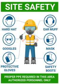 Site safety design A4 template