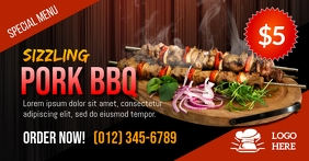 Sizzling Pork Barbecue Facebook Template
