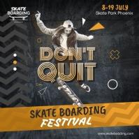 Skate Boarding Carré (1:1) template