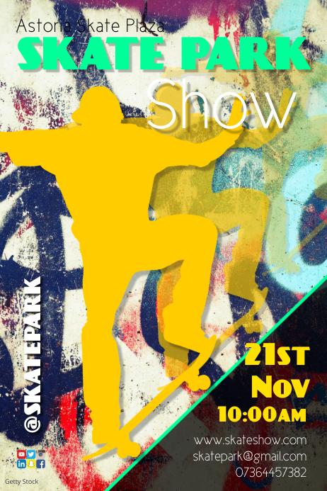 Skate Park Show Poster template