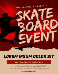 Skateboard Contest Event Flyer Template