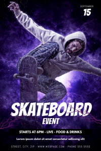 Skateboard Event FLyer Template