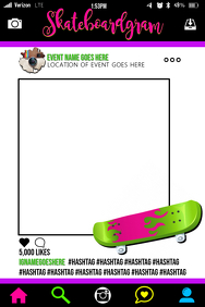 Skateboard Party Prop Frame