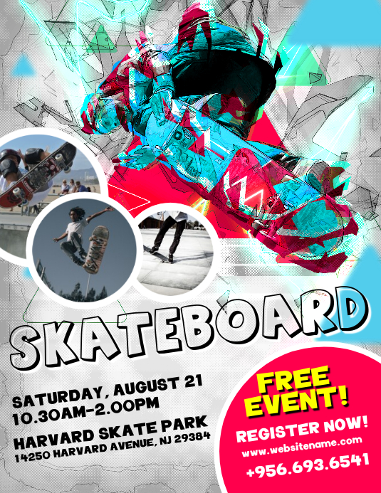 skateboard flyers template postermywall