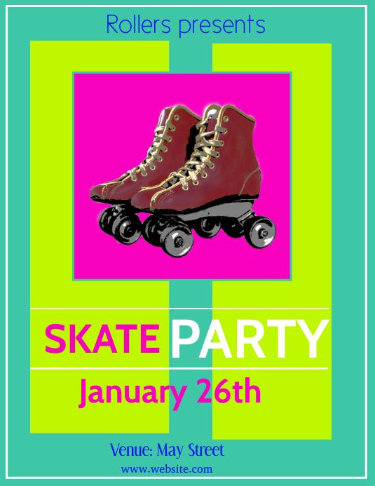 skating Flyer (US Letter) template