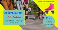 skating Facebook Event Cover template
