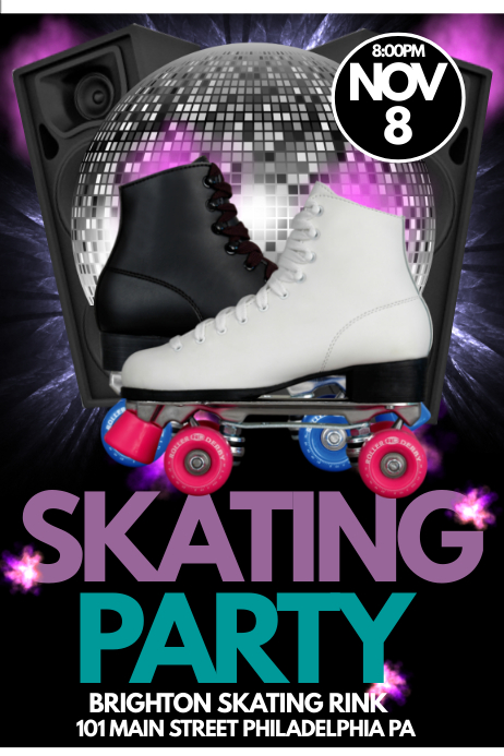 skating party template