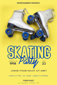 Skating Party Flyer Template