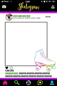Skating Party Prop Frame