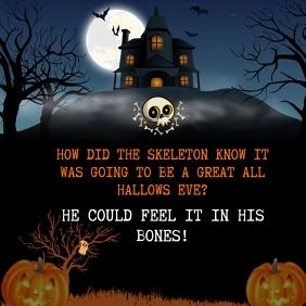 Skeleton Joke Halloween Instagram Post template