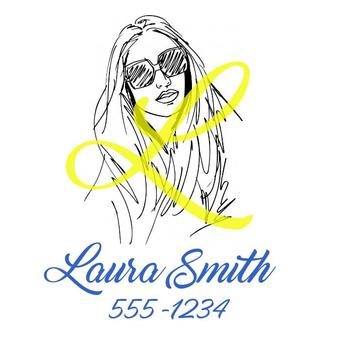 Sketch name card Logo template
