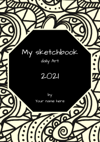 SKETCHBOOK COVER A5 template