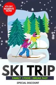 ski,Winters ,Winters camp,Ski camp Poster template