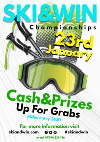 Ski & Win Poster A4 template