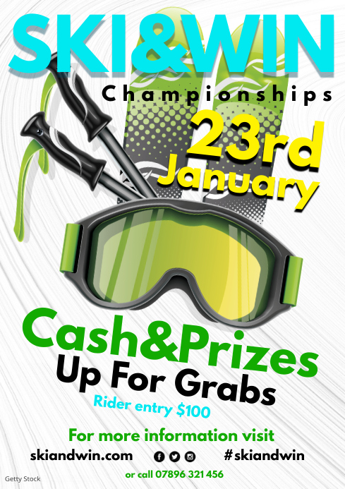 Ski & Win Poster