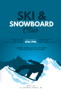 Ski and Snowboard Club Flyer Design Template