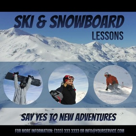 Ski and Snowboard lessons video ad