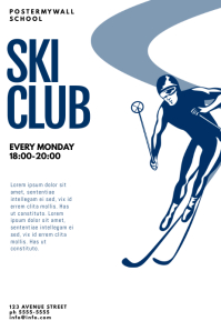 Ski Club Flyer Design Template