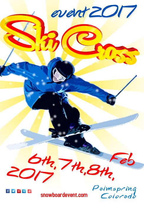 Ski Cross Event Poster