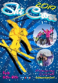 Ski Cross Event Poster
